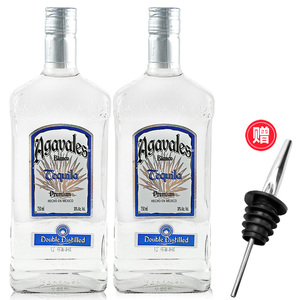 双支洋酒阿卡维拉斯银<span class=H>龙舌兰</span>酒2瓶装Agavales特基拉<span class=H>TEQUILA</span>