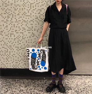 Roundshop |自制 不规则黑色天丝半身长裙