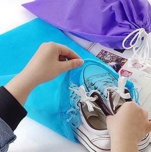 旅行便携<span class=H>鞋子</span>收纳袋加厚无纺布抽绳束口袋出差衣物收纳包整理袋
