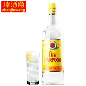 法国进口 洋酒杜松子哈顿<span class=H>金酒</span>Harpoon<span class=H>金酒</span>琴酒 1L装大容量正品