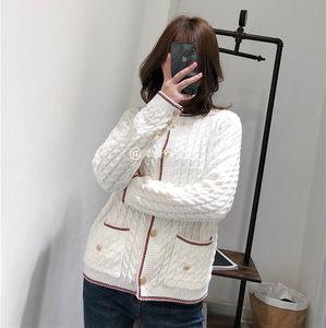 甜美少女<span class=H>毛衣</span>女2019新款洋气宽松tb系列学院风麻花开衫外套针织衫