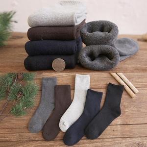 5双日系秋冬季加厚保暖毛圈袜