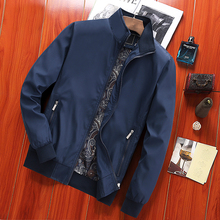 Spring jacket male middle-aged thin section lapel casual dad men's jacket spring and autumn models 40-50 years old jacket braid