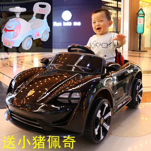 儿童电动汽车可坐宝宝四轮带遥控摇摆充电车子4轮可做人男孩玩具
