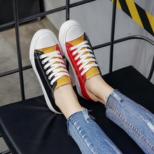 Yuanyang Canvas Shoes Women's Shoes New Summer 2009 Double-color Cloth Shoes Korean Anti-skid Student Shoes Individual Coloured Shoes