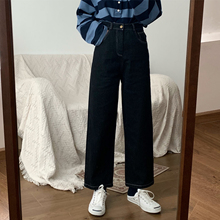With girls / New March 2019 Spring Japanese shopkeeper Amway Line high waist slim jeans