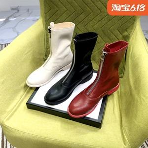 女英伦风2020白色短靴马丁靴