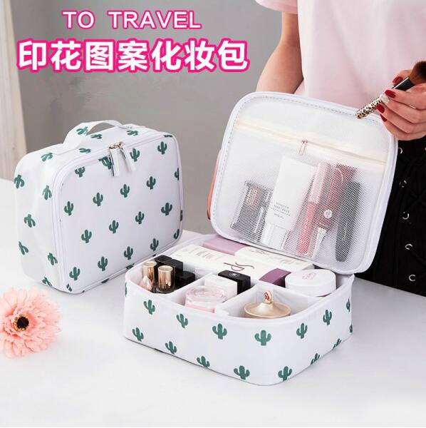 Trip cosmetic bag article the big capacity receive a Korea's lovely small female of mini small fair lady of a pack of bag and then hold to wash Shu to wrap - intl