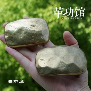 日本进口实心黄铜锤打纹<span class=H>皮带扣</span>手工制作纯铜复古做旧板扣