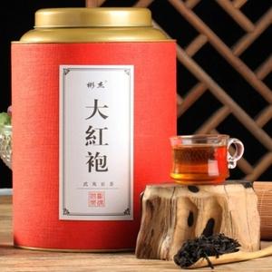 武夷山岩茶正岩兰花香手工大红袍茶叶节日送礼礼盒圆罐500克