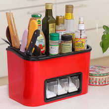 Household items kitchen utensils shelf condiment storage box seasoning storage knife rack wall mount combination set