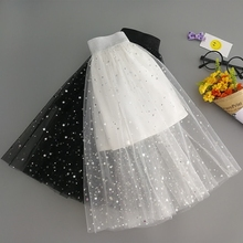 New Kids'Half-length Skirt with Korean Star Pattern in Children's Mesh Skirt