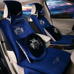 新款汽车坐垫秋冬季短<span class=H>毛绒</span>可爱卡通座套全包围加厚保暖通用<span class=H>座垫</span>套