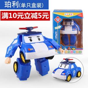 手动变形<span class=H>玩具</span>安巴金刚迷你q版变身警车珀利汽车机器人儿童<span class=H>玩具</span>