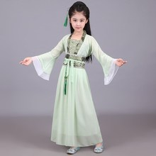 Children's Antique Clothes Miss Fairy Princess Ancient Clothes Girls Primary School Girls Photographed Children's Hanzhou Clothes