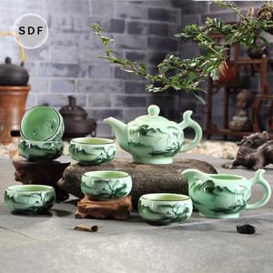 茶具龙泉<span class=H>青瓷</span>鲤鱼功夫茶具套装家用陶瓷<span class=H>茶壶</span>鱼茶杯现代简约中式
