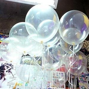 加厚12寸<span class=H>大号</span>透明<span class=H>气球</span>球中球圆形<span class=H>气球</span>婚庆布置生日<span class=H>气球</span>100个包邮