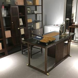 新中式实木书桌现代简约电脑桌写字桌书法禅意书房家具<span class=H>写字台</span>家用