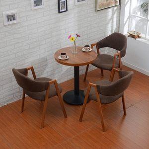 洽谈桌商务接待桌椅组合咖啡桌玻璃圆桌子小圆桌茶几奶茶店桌<span class=H>椅子</span>