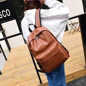 时尚。休闲时尚潮流双肩包男士电脑背包韩版中学生书包女PU皮质旅