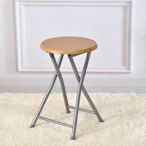 <span class=H>折叠凳</span>家用木面金属户外便携式简易餐桌凳成人椅凳休闲圆板凳包邮