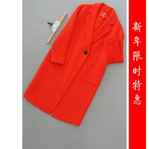 打折香[Y175-600]专柜品牌1499正品羊毛<span class=H>女装</span><span class=H>外套</span>呢子大衣1.13KG