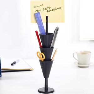 纳川创意桌面时尚文具笔筒北欧学生宿舍办公多功能<span class=H>收纳</span>塔整理盒