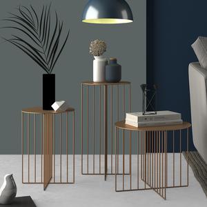 ELF生活志创意铁艺<span class=H>茶几</span>北欧现代简约边几客厅卧室角几商业咖啡桌
