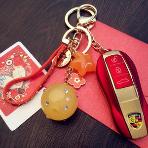 韩版糖果色果冻五角星钥匙扣汽车钥匙挂件挂饰女款男士包挂腰挂