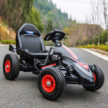 Children's electric car four-wheeled kart can sit male and female baby remote control toy car child inflatable wheel ATV