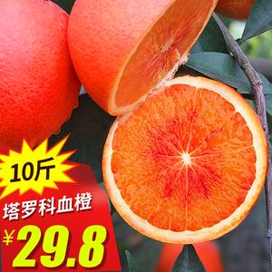 四川资中塔罗科血橙10斤红心橙子当季新鲜<span class=H>水果</span>手剥红肉甜脐橙包邮
