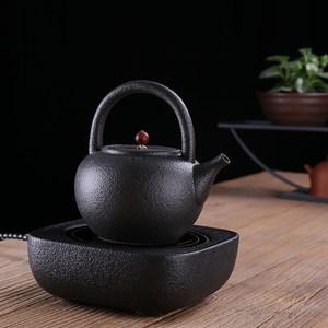 电陶炉煮茶<span class=H>陶壶</span>电热<span class=H>粗</span>陶茶具火山石煮茶器陶瓷提梁壶功夫茶烧水壶