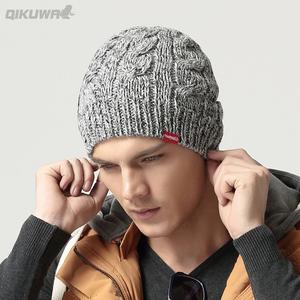 <span class=H>帽子</span>男士冬季毛线帽加厚韩版潮针织套头帽保暖冬天帽青年加绒棉帽