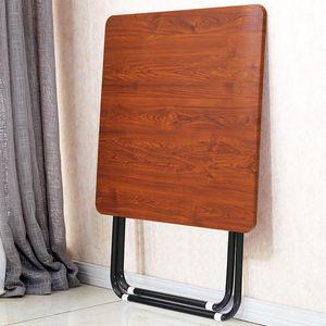 折叠桌餐桌吃饭<span class=H>桌子</span>家用小户型正方形大方桌圆桌简易简约便携户外