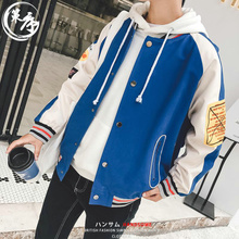 Spring new print jacket men's Korean version of the trend of students handsome baseball uniform casual loose coat