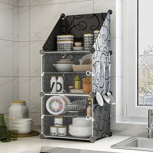 碗柜简易家用厨房剩菜柜多功能经济型放碗置物收纳<span class=H>柜子</span>组装小橱柜