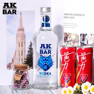 AKBAR洋酒 <span class=H>伏特加</span>酒 vodka原味烈酒夜店鸡尾酒调酒基酒700ml 40度