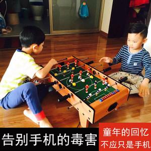 儿童桌上足球机桌面小人踢球6杆台式比赛球波比玩具游戏互动台球