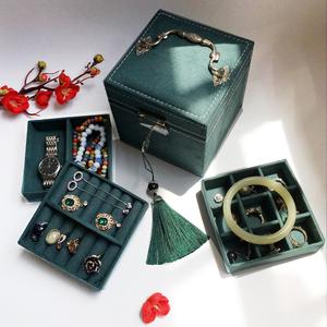 复古首饰盒欧式精致小号饰品盒公主简约收纳盒手饰盒<span class=H>珠宝</span>盒化妆盒