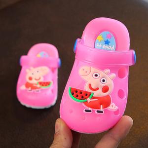 领3元券购买夏季宝宝拖鞋夏男1-3岁儿童凉拖鞋女童防滑包头小孩沙滩鞋洞洞鞋