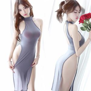 性感透视装三点式睡衣小胸制服女式情趣内衣服骚挑逗激情套装用品