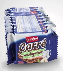 现货/<span class=H>德国</span><span class=H>代</span>购sondey威化饼干carre卡若斯榛子<span class=H>巧克力</span>威化饼干零食