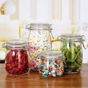 保鲜密封罐储蓄罐圆形玻璃全新可爱储罐收纳瓶果酱加厚腌咸菜