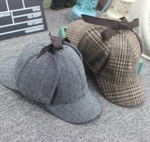 日本购神探夏洛克周边福尔摩斯猎鹿帽 侦探卷福夏洛克同款<span class=H>帽子</span>双
