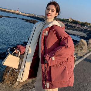 chic蓬蓬棉服女2018新款短款宽松学生时尚爆款ins小清新面包服女