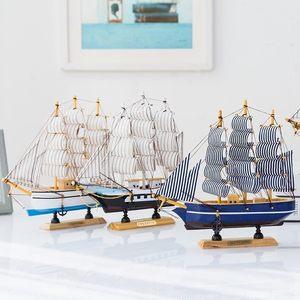 手工生日木头客厅组装<span class=H>木船</span>小船模型船模型拼装木质一帆风顺玩具家