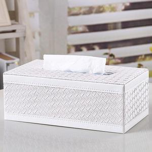 新品 仿皮革羊皮纹欧式创意时尚餐巾抽纸盒<span class=H>纸巾盒</span> 车家用皮艺皮具