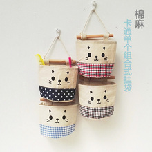 Wenerya cloth hanging bag storage bag wall hanging Korean cute home hanging wall wall dormitory dormitory storage
