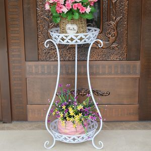 绿箩立式盆架多用仿古经济型家用装饰简单<span class=H>花架</span>个性大盆花卉