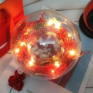 优选小清新礼盒发光球形礼品盒创意灯光生日伴手礼物盒磁带情<span class=H>书包</span>
